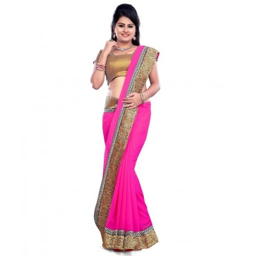 Party Wear Pink Designer Saree