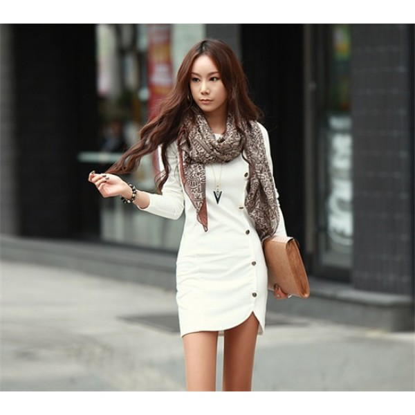 Long Sleeve Casual Dress for Winter