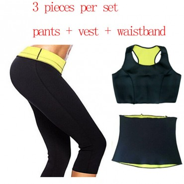 Neoprane Hot Slimming Shapers Set (Shaper Bra + waistband + Pant)