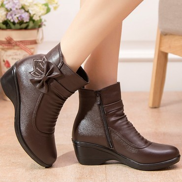 Butterfly-Knot Ankle winter Boots for Female shoes