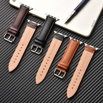 Brown Leather Band Loop Strap For Apple Watch 4 3 2 1 38mm 40mm , Men Leather Watch Band for iwatch 5 44mm 42mm Bracelet