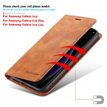 Luxury Leather Wallet Flip Phone Case For Samsung Galaxy S10 S10E S10 Plus S10 Lite Case Cover Magnetic Card Holder Coque Fundas