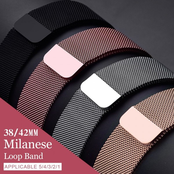 Apple Watch band strap 42mm/38mm iwatch 5/4/3/2/1Stainless Steel Link Bracelet wrist watchband magnetic buckle in Nepal
