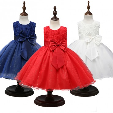 Princess Dress Girls Flower Ball Gown : 0-12yrs