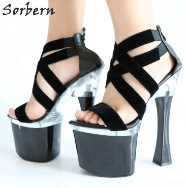 Sorbern 18CM Square High Heels Sandals