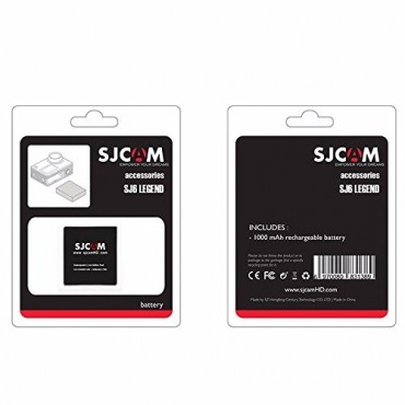 SJCAM SJ6 LEGEND Action Camera Backup Li-ion Battery  - BLACK