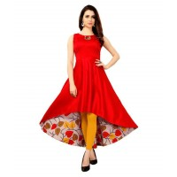 Multicoloured Rayon High Low Hemline Kurti 20120