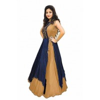 Fashion Bangalore Silk Anarkali Kurti Grey