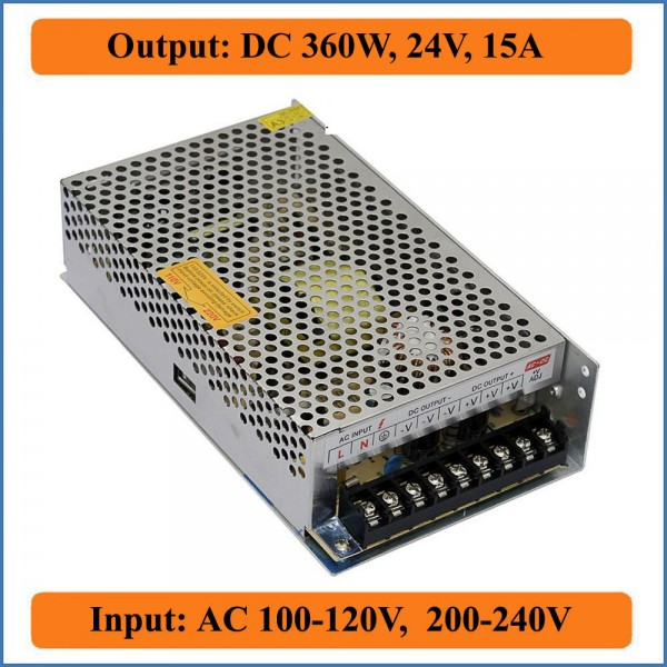 Switching Mode Power Supply/24V 360W 15A