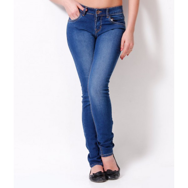Blue Denim Lycra Slim Fit Jeans in Mystorenepal