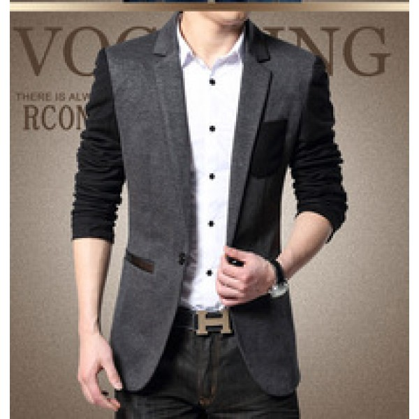 2015 Spring Hot New Arrival Men's Clothing Male Casual Blazer Gentlemen Outerwear Fashion Slim Fit Suit Jacket Coat S-4XL