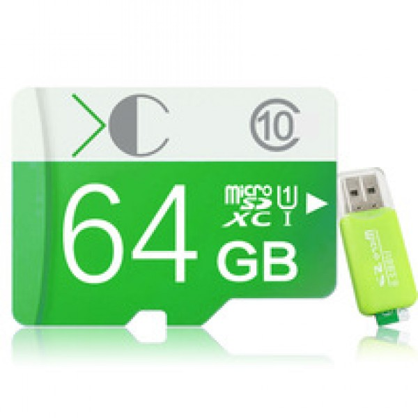 micro sd mini memory cards gift card reader + adapter