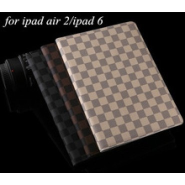 color plaid hot sell Magnetic Smart case Cover PU Leather case Stand hard case For iPad air 2 ipad6 air2 in nepal