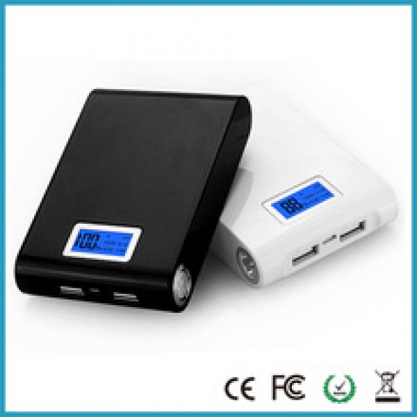 Dual usb LCD power bank 12000mah portable backup battery charger in nepal,