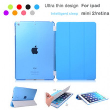 Leather Slim Magnetic Front Smart Cover Skin +Hard PC Back Case For ipad mini &ipad mini 2 retina in nepal