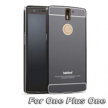 Luxury Metal Aluminum frame PC Back Case 1+ 1 Ultrathin Phone Hard Back Covers in nepal