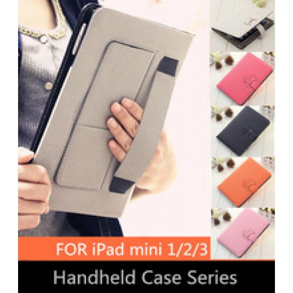 protective sleeve PU Leather case Stand Sleeve Solid Color Soft Sleep Wakeup holster For iPad mini