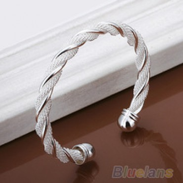 Silver Plated Twist Net Cuff Bangle Fashion Bracelet Bracelets Bangles  IN NEPAL