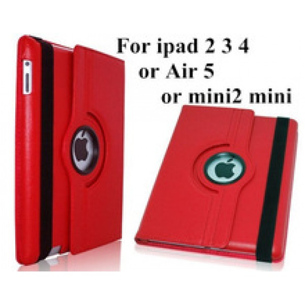 Ultra thin Flip Pu Leather 360 Degree Rotating Cases Smart Cover Stand For iPad2