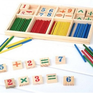 Montessori Wooden Number Math Game Sticks Educational Toy in Nepal.