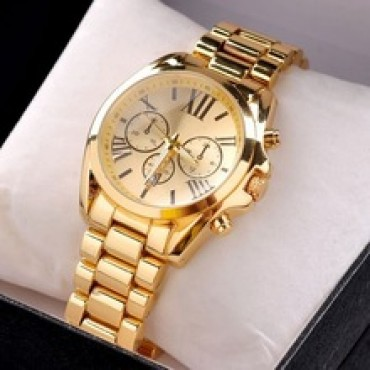 Casual Full Steel Watch Gold in Nepal.