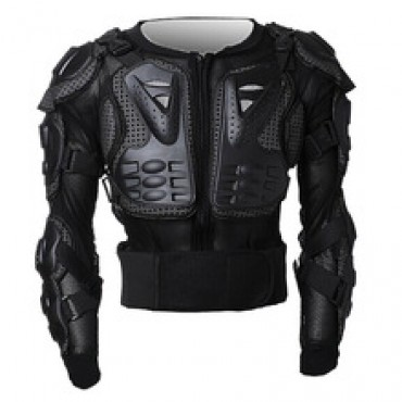 Black motorcycles armor protection motocross clothing in Nepal.