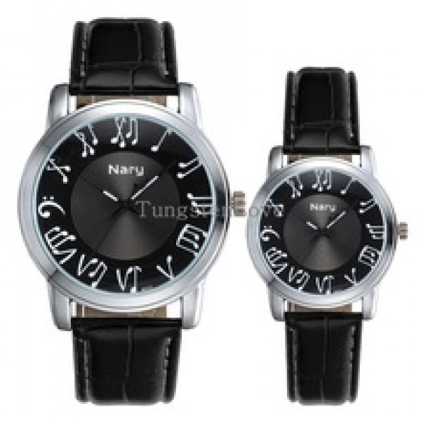 Earl Music Notes Couples Wrist Watches