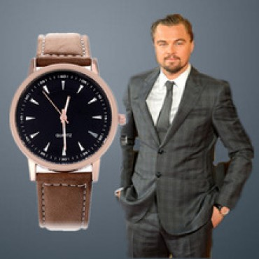 Leather Strap Fashion Casual Round Dial Men Sports Watches  in Nepal.