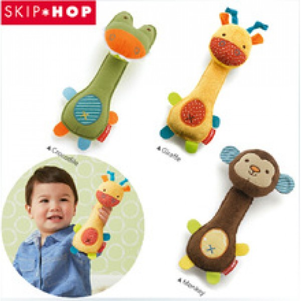 Soft Animal Model Handbells Rattles ZOO Squeeze Me Rattle Cute Gift Baby toy