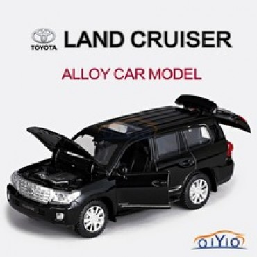 Super Cool Luxury Cars Toy Model TOYOTA LAND CRUISER Continental Model High Quality Pull Back Alloy Electronic Toy Ca