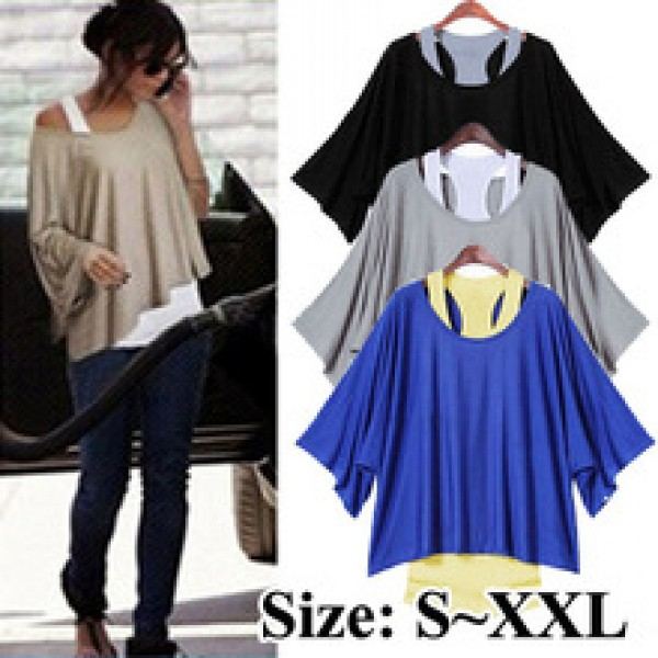 4 Colors Fashion Cozy Loose Short Sleeve LadiesT-Shirts in Nepal.