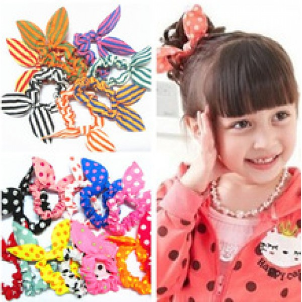 Mini Small Bunny Rabbit Ears Headband Hair Rope Rubber Bands Baby Girl in nepal,