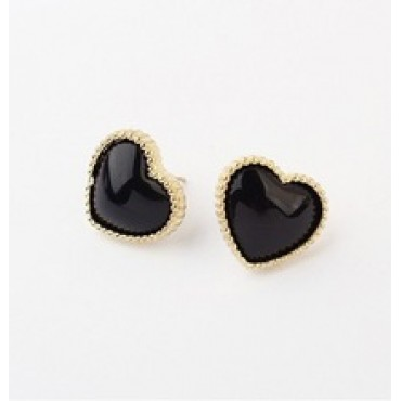 Fashion Lovely Lady Peach Heart Earrings