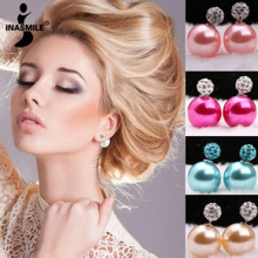 women channel earrings pendientes stud earrings in Nepal.