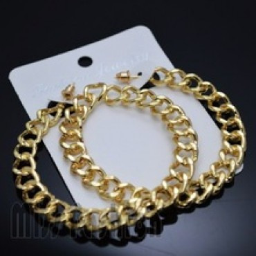 Big Earring Hip Hop Simple Chain Gold Earrings