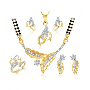 Gold & Rhodium Plated CZ Combo on My Store Nepal