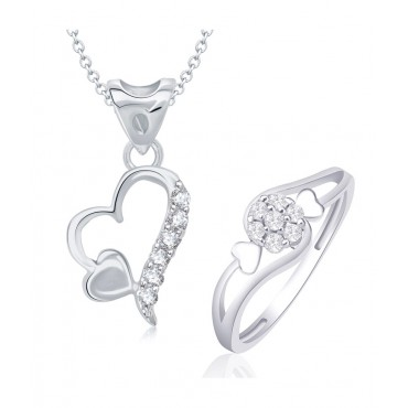 Heart Shape Combo Ring & Pendant