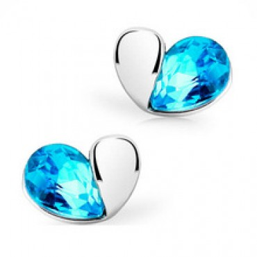 Lovely Crystal Swan Stud Earrings