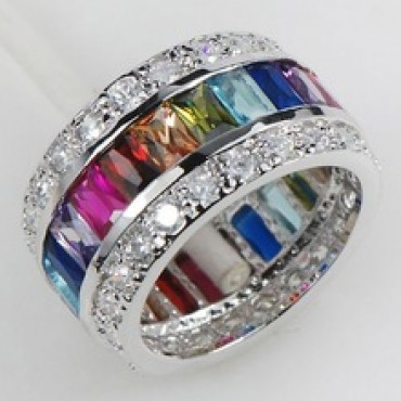 Morganite Blue Topaz Garnet Amethyst Ruby Pink Kunzite Aquamarine 925 Sterling Silver Ring  in nepal