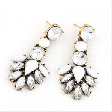 Vintage Crystal Stud Earrings