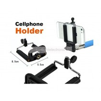 Extendable Selfie Monopod Stick + Phone Camera Self Portrait Clip Holder + Bluetooth Remote Shutter Controller for Android iOS
