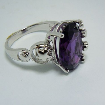 Semistone Purple Coloured Ring