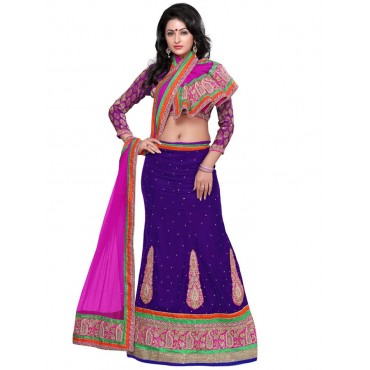Pink, Blue Net, Silk Lehenga in Nepal.