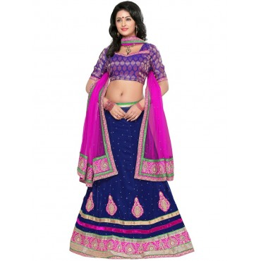 Pink, purple Net, Silk Lehenga in Nepal.