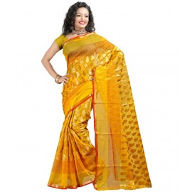 Yellow Tissue Banarasi Saree in Nepal.