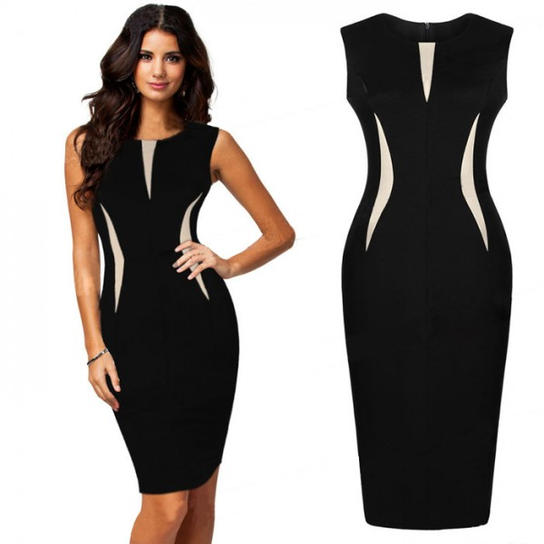 0817c6020c493 Buy Sleeveless Black Cocktail Party Working Bodycon Slim Midi Dresses in  Nepal (MST0006 - HTC Just 1,680.00) - Mystorenepal.com