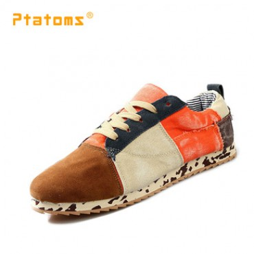 Casual Canvas Sneakers Mens Shoes Fashion Mixed Color Platform Shose Man Patchwork Breathable Sneakers Autumn Footwear  in nepal