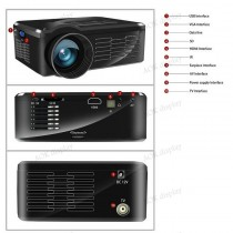 Mini LED Projector full hd For Home Cinema Support TV Video Games XBOX One PS3 Led Projector HDMI Portable Entertain Multimedia in Kathmandu Nepal