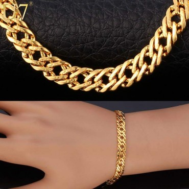 24 Caret Gold plated Bracelate