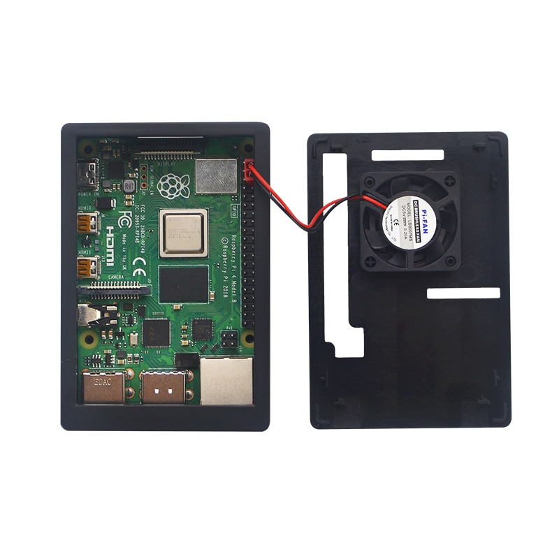 Raspberry-Pi-4-Model-B-Case-Power-Supply-64GB-SD-Card-Heatsink-Optional-35-inch-Touch-Screen-Fan-HDMI-Cable-for-RPI-4